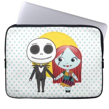 Nightmare Before Christmas   Jack & Sally Emoji Computer Sleeve
