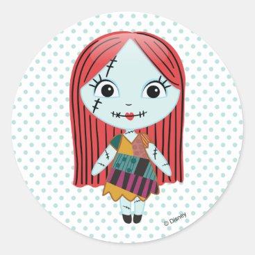 Nightmare Before Christmas   Sally Emoji Classic Round Sticker