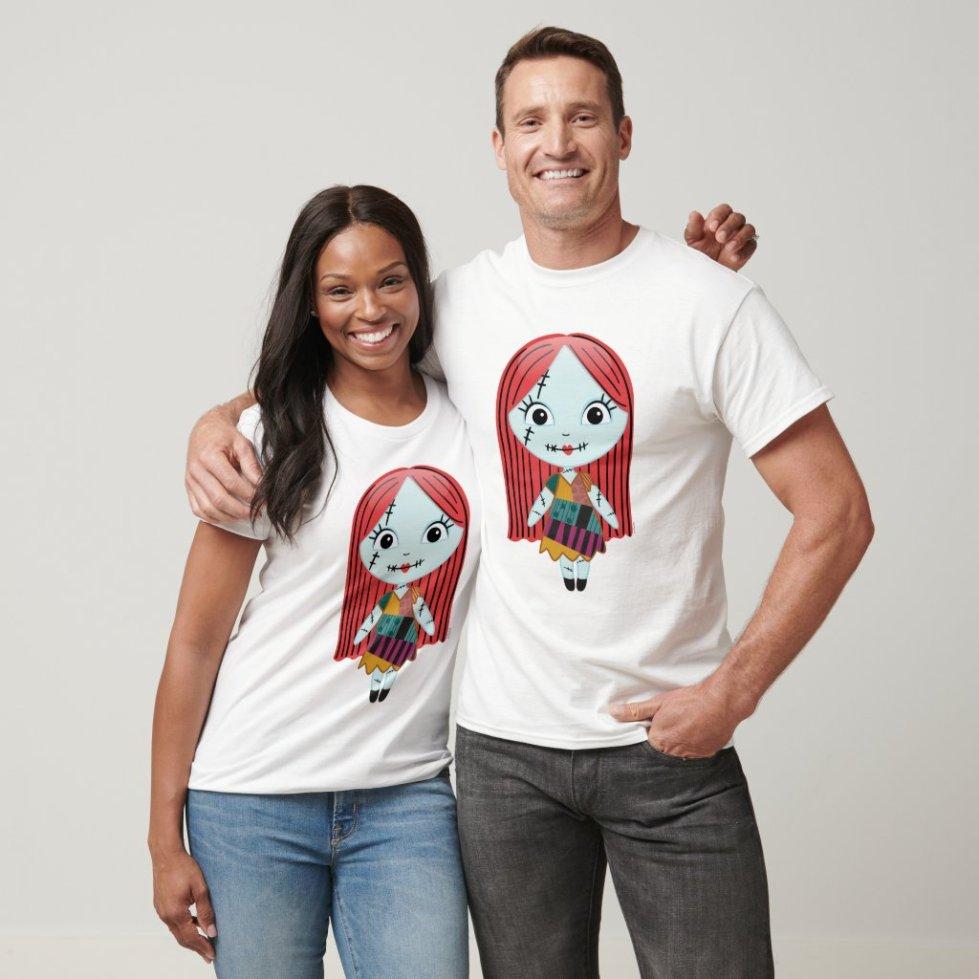 Couple Jack and Sally Christmas T-Shirts