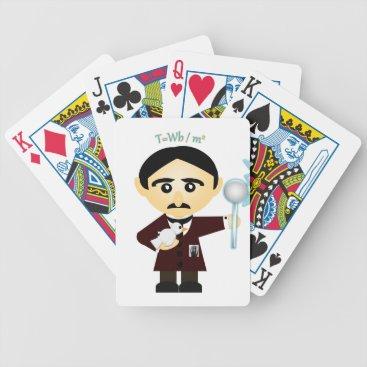 Nikola Tesla Bicycle Playing Cards