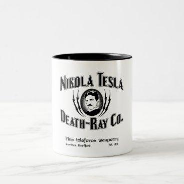 Nikola Tesla Death-Ray Co. Two-Tone Coffee Mug