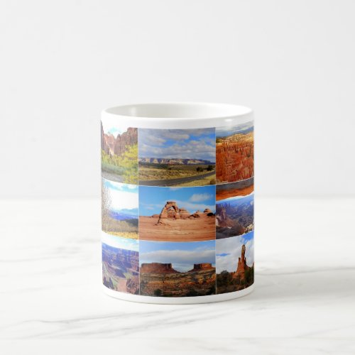 Nine Utah Landscape Collage Icons Mugs