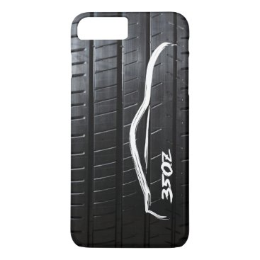 Nissan 350Z brushstroke with Tire Tread iPhone 8 Plus/7 Plus Case