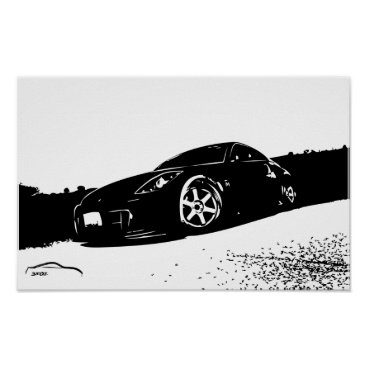 Nissan 350z Front Stance Poster