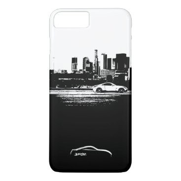 Nissan 350Z Rolling Shot with White Brushstroke iPhone 8 Plus/7 Plus Case