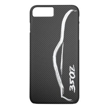 Nissan 350Z White Silhouette Logo iPhone 8 Plus/7 Plus Case