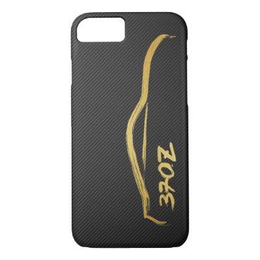 Nissan 370z Gold Silhouette JDM Logo iPhone 8/7 Case