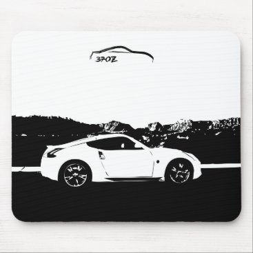 Nissan 370z Mousepad with Black Brush Stroke logo