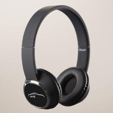 Nissan 370Z White Silhoutte on faux carbon fiber Headphones