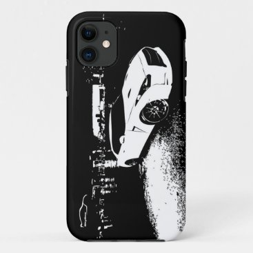 Nissan Skyline GTR with City Lights Backdrop iPhone 11 Case