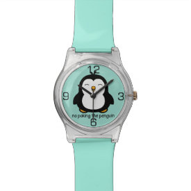 No Poking The Penguin Wristwatches