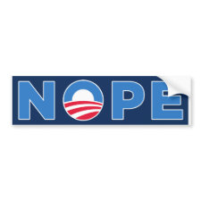 NOPE BUMPER STICKER