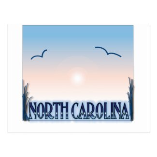 North Carolina Airbrush Sunset Postcard