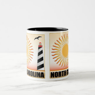 North Carolina Lighthouse Sun Coffee Mugs