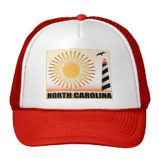 North Carolina Lighthouse Sun Mesh Hats