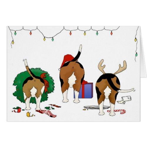 Nothin' Butt A Beagle Christmas Card