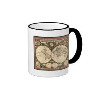 Nova totius terrarum orbis tabula auctore coffee mugs