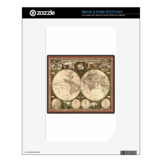 Nova totius terrarum orbis tabula auctore decals for the NOOK color
