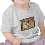 Nova totius terrarum orbis tabula auctore t-shirts