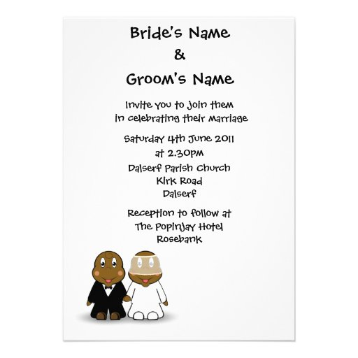 Wording For Wedding Invitation By Bride And Groom Wedding