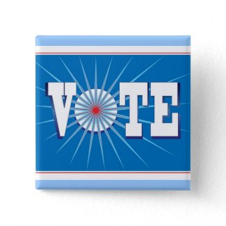 NowPower VOTE ! Button, square/blue button
