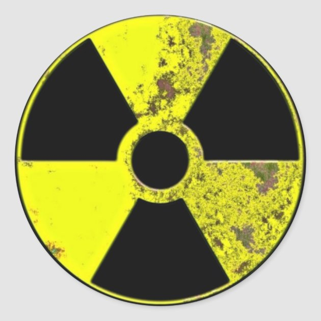 Nuclear Symbol Classic Round Sticker Zazzle