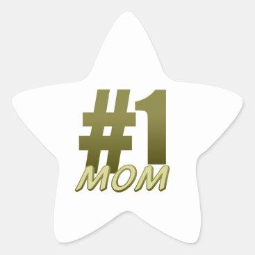 Number One Mom Star Sticker