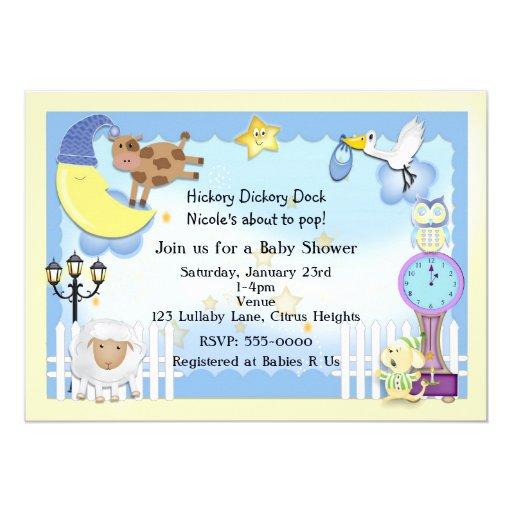 Nursery Rhyme Lullaby Baby Shower Invitations Zazzle