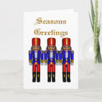 nutcrackers traditional Seasons Greetings Cards