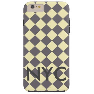 NYC iPhone Case CricketDiane Retro Yellow Grey