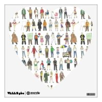 NYC Watercolor Wall Art New York City Heart Decal | Zazzle