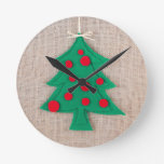 O Christmas Tree Round Wall Clocks