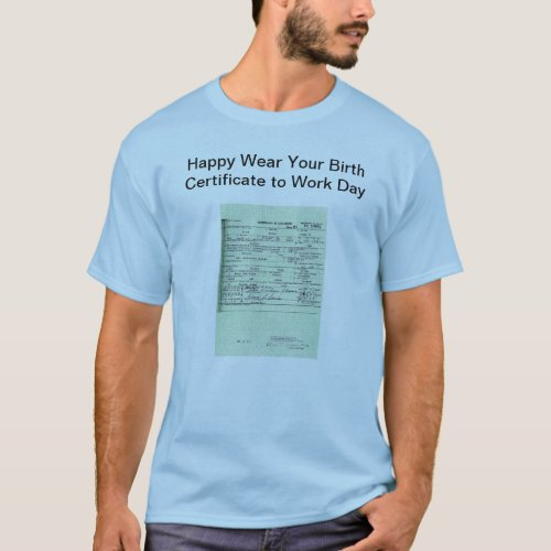 Obama Birth Certificate Shirt shirt