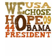 obama hope 44 t-shirt