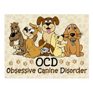 OCD Obsessive Canine Disorder Funny Dog Postcard