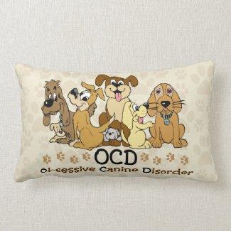 OCD Obsessive Canine Disorder Lumbar Pillow
