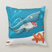 Ocean Aquatic Cute Shark Starfish Pillow
