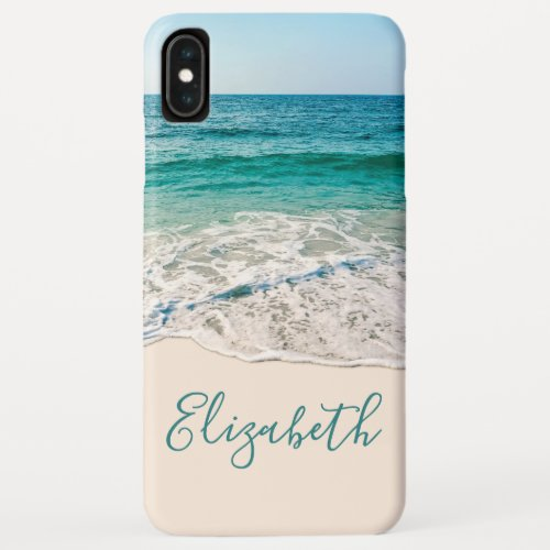 Ocean Beach Shore to Add Your Name iPhone XS Max Case