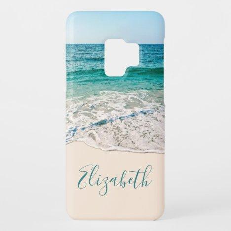 Ocean Beach Shore to Add Your Name Case-Mate Samsung Galaxy S9 Case