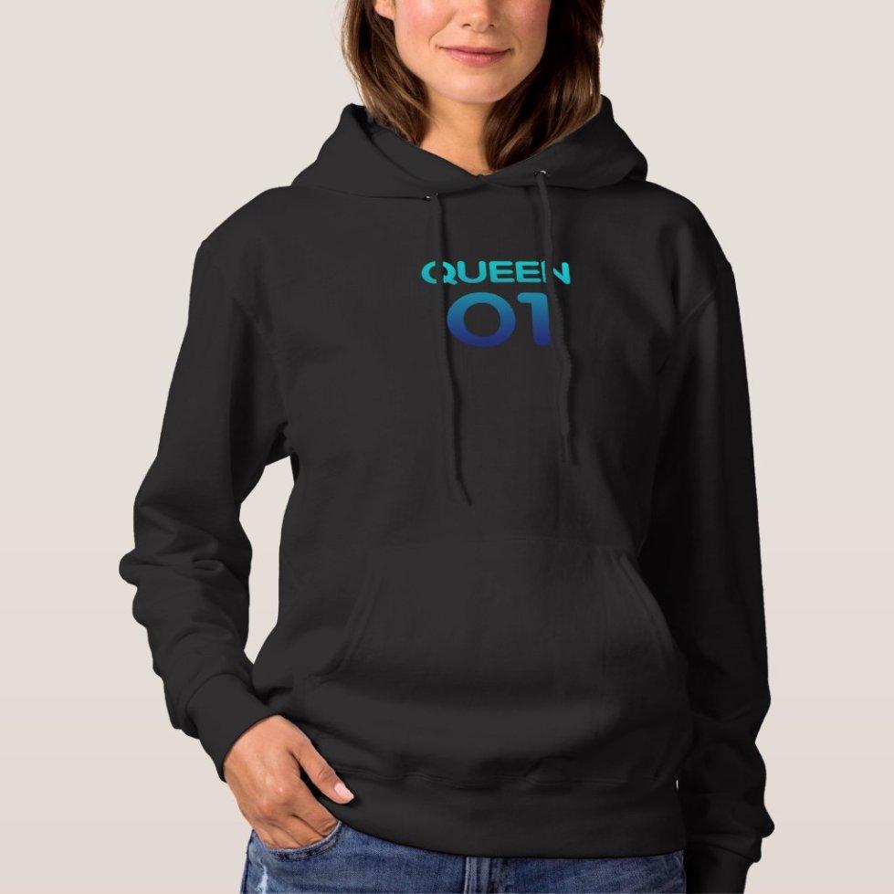 Ocean Blue Queen 01 Hoodie