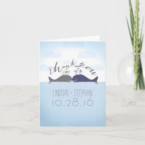 Ocean Whales Couple Wedding Thank You
