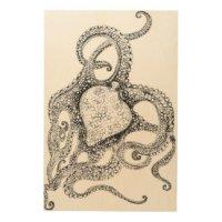 Octopus Wood Wall Art   Zazzle