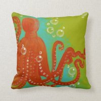 Octopus Throw Pillow | Zazzle