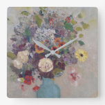 Odilon Redon - Vase Of Flowers Square Wall Clock