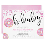 Oh baby Donut baby shower girl Invitation
