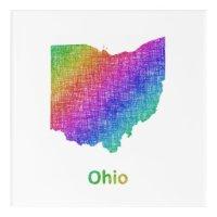 Ohio Acrylic Wall Art | Zazzle