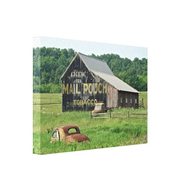 Old Barn Mail Pouch Tobacco Advertising Car Truck Canvas