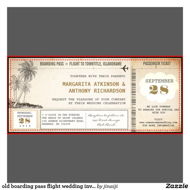 Air Mail Wedding Invitation