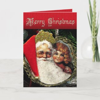 Old fashioned Christmas Card card