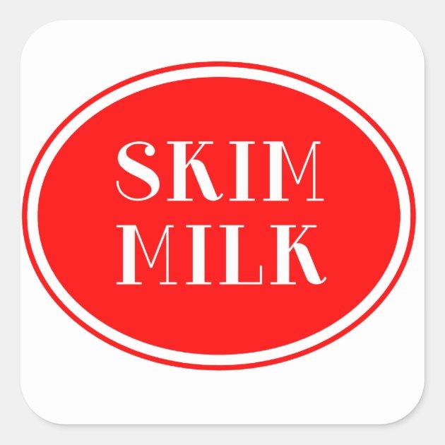Old Fashioned Milk Bottle Label